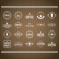 Collection of coffee store sign