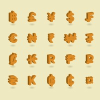 Collection of currency icons