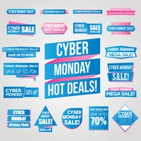Collection of cyber monday banners