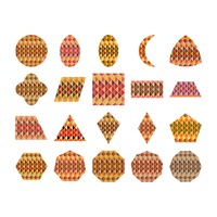 Collection of different shapes with geometrical pattern