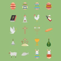 Collection of easter icons