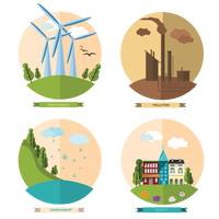 Collection of environmental icons