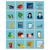 Collection of finance banking related icons