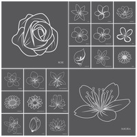 Collection of flower icons