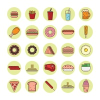 Collection of food icon