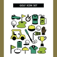 Collection of golf icons