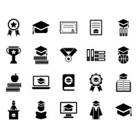 Collection of graduation icons