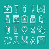 Collection of health icons