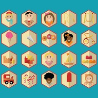 Collection of kids icons