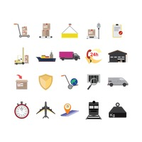 Collection of logistic icons