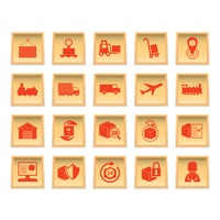 Collection of logistics icons