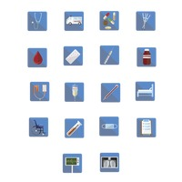 Collection of medical related icons