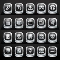 Collection of mobile application buttons