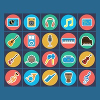 Collection of music icon