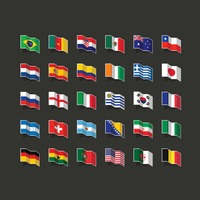 Collection of national flags