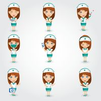 Collection of nurse figures
