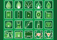 Collection of oil and gas icons