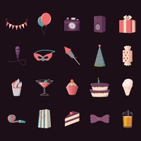 Collection of party icons