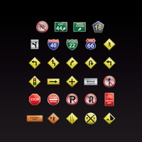Collection of road signs