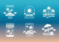 Collection of summer beach holiday designs