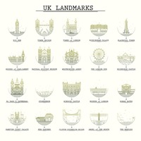 Collection of united kingdom landmarks