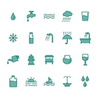 Collection of water icons