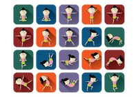 Collection of yoga postures