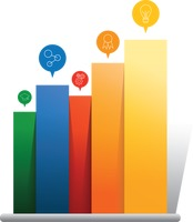 Colorful business bar charts