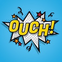 Comic bubble ouch Vector Image - 1617130 | StockUnlimited