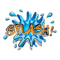 Comic word splash