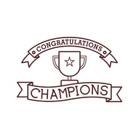 Congratulations champions card