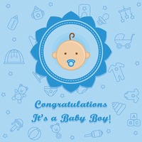 Congratulations it's a baby boy card