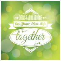 Congratulations on your new life together card