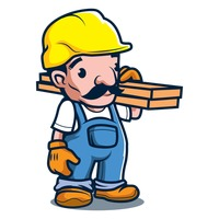 Constructor holding wood