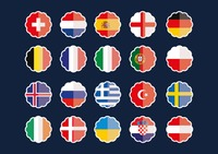 Country flag stickers