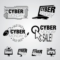 Cyber monday design element collection