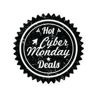 Cyber monday hot deals label