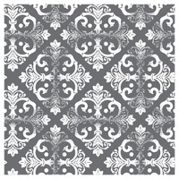 Damask vintage gray and white pattern