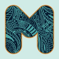 Decorative alphabet m