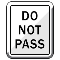 Do not pass road sign