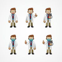 Doctor with various poses