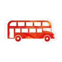 Double decker bus sticker