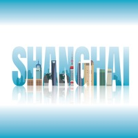 Double exposure of shanghai text with cityscape