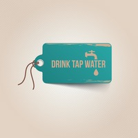 Drink tap water tag