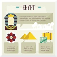 Egypt travel infographic