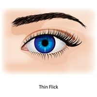 Eye with thin flick