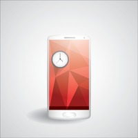 Faceted smartphone with clock