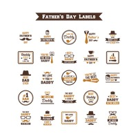 Father's day labels collection