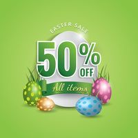 Fifty percent off easter sale