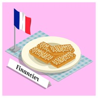 Financier with france flag